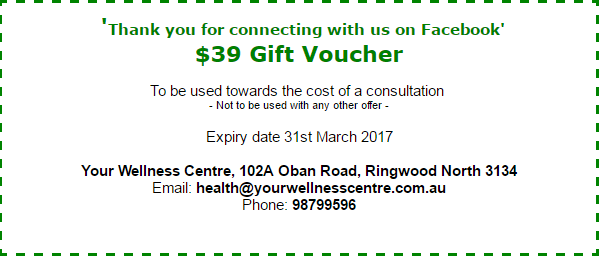 Newsletter March 2017 - Gift Voucher - Your Wellness Centre Naturopathy Melbourne